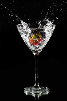 Free Strawberry Splash Stock Images - 6145014