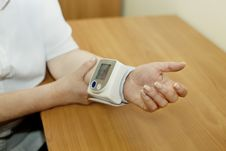 Free Wrist Blood Pressure Monitor Royalty Free Stock Photo - 6145075