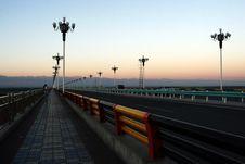 Free Sunrise  Highway Bridge Royalty Free Stock Photo - 6145215