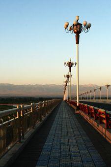 Free Sunrise  Highway Bridge Royalty Free Stock Photography - 6145217