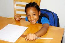 Free Happy Homework Royalty Free Stock Photo - 6146075