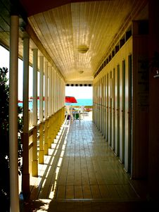 Free Passageway For The Huts Stock Photography - 6146252