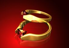 Free Ruby Rings Background Royalty Free Stock Photos - 6147198