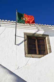 Free Portuguese Flag In Monsaraz, Alentejo, Portugal Royalty Free Stock Image - 6147306
