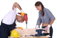 Free Construction Workers At Work Stock Images - 6147614