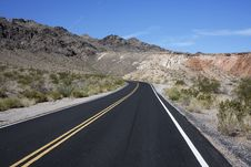 Road Through Valley Of Fire, Nevada Stock Images