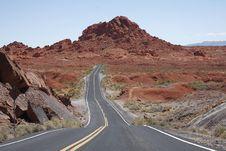 Road Through Valley Of Fire, Nevada Stock Photos