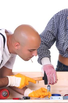 Free Construction Workers At Work Royalty Free Stock Photos - 6148208