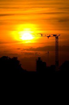 Free Sunset Crane Royalty Free Stock Photo - 6148215