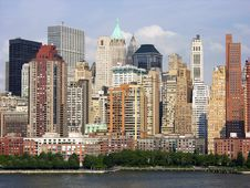 Evening In Manhattan Royalty Free Stock Photography