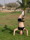 Free Young Girl Exercising In The Park Stock Photo - 6152690