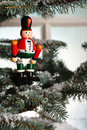 Free Christmas Toy Solider On Tree Stock Image - 6156101