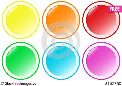 Free Set Of Beautiful Round Buttons Stock Photo - 6157750