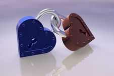 Free Heart S Padlocks Royalty Free Stock Image - 6150636