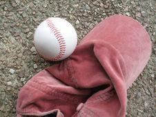 Free Red Baseball Cap & Ball Royalty Free Stock Photo - 6151065