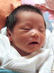 Free Sleeping Baby Royalty Free Stock Photo - 6151245