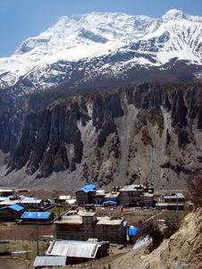 Free Manang In Himalayas Stock Image - 6151631