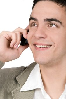 Young Adult Talking On Cell Phone Stock Photos