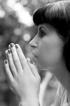 Free Praying Girl Royalty Free Stock Photo - 6152125