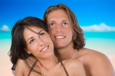 Free An Attractive Couple Looking The Sky Stock Photography - 6152232