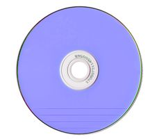 Free Blue Compact Disk Isolated On White Royalty Free Stock Photo - 6152305