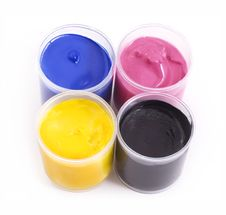 Free Gouache Paint Cans Royalty Free Stock Photo - 6152635