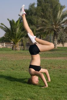 Free Young Girl Exercising In The Park Royalty Free Stock Image - 6152646