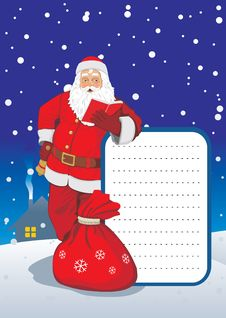 Greeting Card With Santa Royalty Free Stock Images