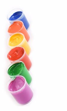 Free Gouache Paint Cans Stock Image - 6153661
