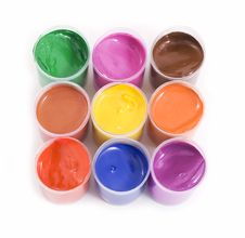 Free Gouache Paint Cans Royalty Free Stock Images - 6153699
