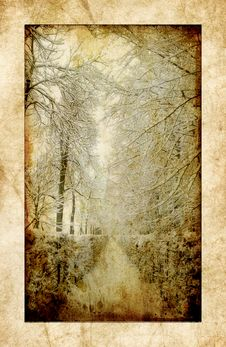 Free Vintage Winter Royalty Free Stock Photo - 6154735