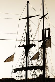 Ship Foremast And Cordage Royalty Free Stock Photo