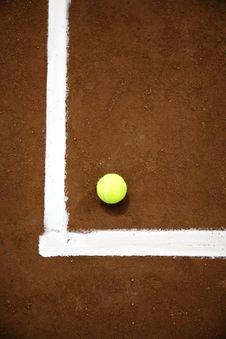 Free Tennis Ball And White Line Stock Photos - 6156583