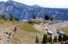 Free View Point At Crater Lake Royalty Free Stock Photography - 6156627