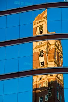 Reflection Of A Building Stock Photos