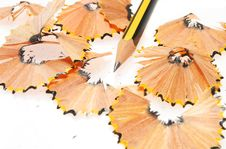 Free Pencil Piont And Shavings Stock Photography - 6156872