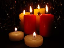 Free Candles, Christmas Still Life Stock Image - 6157051