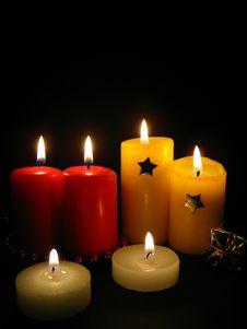 Free Candles, Christmas Still Life Stock Photos - 6157163