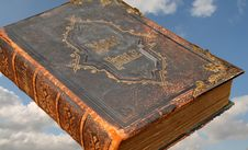 Old Leather Bound Holy Bible Royalty Free Stock Image