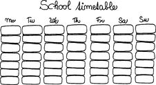 Free School Timetable Stock Photos - 6157813