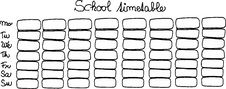 Free School Timetable Stock Image - 6157841