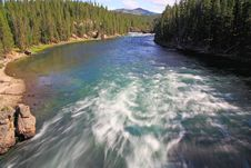 Free The Yellowstone River Near Upper Falls Royalty Free Stock Photography - 6158087
