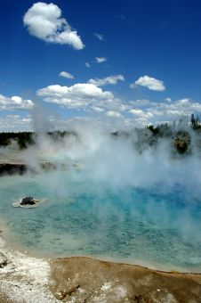 Free Yellowstone Geyser Basin Royalty Free Stock Image - 6158346