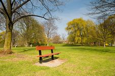 Free Bench In A Park Stock Images - 6159814