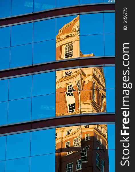 Reflection of a building
