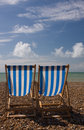 Free Deck Chairs Facing Ocean Stock Photo - 6163590