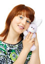 Free Young Girl With Toy Bunny Royalty Free Stock Photo - 6167475