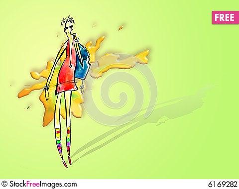 Free Fashionable Girl Stock Photography - 6169282