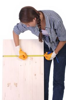 Free Woman Carpenter Stock Images - 6160894
