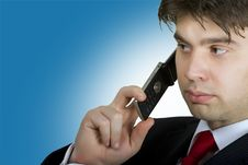 Free Bussinessman On The Phone Stock Photo - 6161390